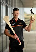 7 August 2019; PwC GAA/GPA Players of the Month for July, footballer Michael Murphy of Donegal, and hurler Patrick Horgan of Cork, were at PwC offices in Dublin today to pick up their respective awards. The players were joined by PwC's Ronan Finn, Uachtarán Cumann Lúthchleas Gael, John Horan, and GPA Chief Executive, Paul Flynn. Pictured is Patrick Horgan of Cork with his award at PwC, Spencer Dock, North Wall Quay, Dublin. Photo by Seb Daly/Sportsfile