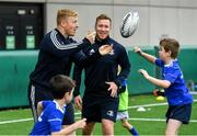 7 August 2019; Leinster players James Tracy, left, and Rory O'Loughlin with participants during the Bank of Ireland Leinster Rugby Summer Camp at Lansdowne FC in Dublin. Photo by Piaras Ó Mídheach/Sportsfile