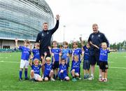 7 August 2019; Leinster players Rory O'Loughlin, left, and James Tracy with participants during the Bank of Ireland Leinster Rugby Summer Camp at Lansdowne FC in Dublin. Photo by Piaras Ó Mídheach/Sportsfile