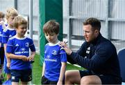 7 August 2019; Leinster player Rory O'Loughlin signs autographs during the Bank of Ireland Leinster Rugby Summer Camp at Lansdowne FC in Dublin. Photo by Piaras Ó Mídheach/Sportsfile