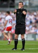 4 August 2019; Referee Joe McQuillan during the GAA Football All-Ireland Senior Championship Quarter-Final Group 2 Phase 3 match between Tyrone and Dublin at Healy Park in Omagh, Tyrone. Photo by Brendan Moran/Sportsfile