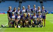 2 August 2019; The Twin Cities, USGAA, squad before the Renault GAA World Games Camogie Native Cup Final against The Warriors, USGAA, during the Renault GAA World Games 2019 Day 5 - Cup Finals at Croke Park in Dublin. Photo by Piaras Ó Mídheach/Sportsfile
