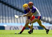 2 August 2019; Chelsea Kellinger of Twin Cities, USGAA, right, in action against Sarah Fetterly of The Warriors, USGAA, in the Renault GAA World Games Camogie Native Cup Final during the Renault GAA World Games 2019 Day 5 - Cup Finals at Croke Park in Dublin. Photo by Piaras Ó Mídheach/Sportsfile