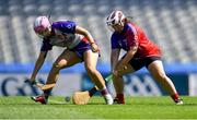 2 August 2019; Claire Russell of Twin Cities, USGAA, left, in action against Heather Morris of The Warriors, USGAA, in the Renault GAA World Games Camogie Native Cup Final during the Renault GAA World Games 2019 Day 5 - Cup Finals at Croke Park in Dublin. Photo by Piaras Ó Mídheach/Sportsfile