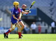 2 August 2019; Sarah Fetterly of The Warriors, USGAA, left, in action against Chelsea Keplinger Twin Cities, USGAA, in the Renault GAA World Games Camogie Native Cup Final during the Renault GAA World Games 2019 Day 5 - Cup Finals at Croke Park in Dublin. Photo by Piaras Ó Mídheach/Sportsfile