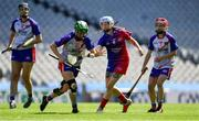 2 August 2019; Tara Dooley of Twin Cities, USGAA, left, in action against Katrina Terry of The Warriors, USGAA, in the Renault GAA World Games Camogie Native Cup Final during the Renault GAA World Games 2019 Day 5 - Cup Finals at Croke Park in Dublin. Photo by Piaras Ó Mídheach/Sportsfile