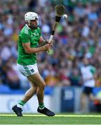 27 July 2019; Aaron Gillane of Limerick takes a free during the GAA Hurling All-Ireland Senior Championship Semi-Final match between Kilkenny and Limerick at Croke Park in Dublin. Photo by Piaras Ó Mídheach/Sportsfile