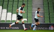 9 August 2019; Jean Kleyn, left, and Garry Ringrose during the Ireland Rugby Captain's Run at the Aviva Stadium in Dublin. Photo by David Fitzgerald/Sportsfile