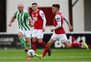 9 August 2019; Paul Keegan of Bray Wanderers in action against Conor Clifford of St Patrick's Athletic during the Extra.ie FAI Cup First Round match between St. Patrick's Athletic and Bray Wanderers at Richmond Park in Dublin. Photo by Ben McShane/Sportsfile