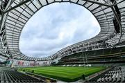 10 August 2019; A general view of Aviva Stadium ahead of the Guinness Summer Series 2019 match between Ireland and Italy at the Aviva Stadium in Dublin. Photo by Brendan Moran/Sportsfile