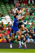 10 August 2019; Carlo Canna of Italy in action against Andrew Conway of Ireland during the Guinness Summer Series 2019 match between Ireland and Italy at the Aviva Stadium in Dublin. Photo by Seb Daly/Sportsfile