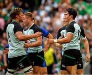 10 August 2019; Joey Carbery of Ireland, right, is congratulated by team-mates Jordi Murphy, Jordan Larmour and Andrew Conway after scoring his side's first try during the Guinness Summer Series 2019 match between Ireland and Italy at the Aviva Stadium in Dublin. Photo by Seb Daly/Sportsfile