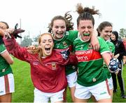 10 August 2019; Mayo players celebrate after the TG4 All-Ireland Ladies Football Senior Championship Quarter-Final match between Mayo and Armagh at Glennon Brothers Pearse Park in Longford. Photo by Matt Browne/Sportsfile