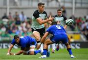10 August 2019; Garry Ringrose of Ireland passes inside Guglielmo Palazzani of Italy during the Guinness Summer Series 2019 match between Ireland and Italy at the Aviva Stadium in Dublin. Photo by Brendan Moran/Sportsfile