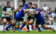 10 August 2019; Joey Carbery of Ireland is tackled by Dean Budd, left, and Marco Riccioni of Italy during the Guinness Summer Series 2019 match between Ireland and Italy at the Aviva Stadium in Dublin. Photo by Brendan Moran/Sportsfile