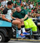 10 August 2019; Joey Carbery of Ireland leaves the pitch after picking up an injury during the Guinness Summer Series 2019 match between Ireland and Italy at the Aviva Stadium in Dublin. Photo by Brendan Moran/Sportsfile