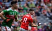 10 August 2019; Conor Corbett of Cork celebrates scoring his side's third goal during the Electric Ireland GAA Football All-Ireland Minor Championship Semi-Final match between Cork and Mayo at Croke Park in Dublin. Photo by Piaras Ó Mídheach/Sportsfile