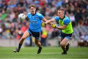 10 August 2019; Michael Fitzsimons, left, and Con O'Callaghan of Dublin prior to the GAA Football All-Ireland Senior Championship Semi-Final match between Dublin and Mayo at Croke Park in Dublin. Photo by Stephen McCarthy/Sportsfile