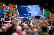 10 August 2019; A Dublin flag prior to the GAA Football All-Ireland Senior Championship Semi-Final match between Dublin and Mayo at Croke Park in Dublin. Photo by Stephen McCarthy/Sportsfile