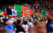 10 August 2019; Mayo and Dublin flags prior to the GAA Football All-Ireland Senior Championship Semi-Final match between Dublin and Mayo at Croke Park in Dublin. Photo by Stephen McCarthy/Sportsfile