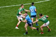 10 August 2019; John Small of Dublin in action against Cillian O'Connor of Mayo during the GAA Football All-Ireland Senior Championship Semi-Final match between Dublin and Mayo at Croke Park in Dublin. Photo by Daire Brennan/Sportsfile