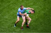 10 August 2019; Stephen Coen of Mayo in action against Ciarán Kilkenny of Dublin during the GAA Football All-Ireland Senior Championship Semi-Final match between Dublin and Mayo at Croke Park in Dublin. Photo by Daire Brennan/Sportsfile