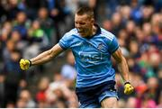 10 August 2019; Con O'Callaghan of Dublin celebrates after scoring his side's first goal during the GAA Football All-Ireland Senior Championship Semi-Final match between Dublin and Mayo at Croke Park in Dublin. Photo by Ramsey Cardy/Sportsfile