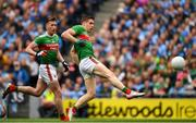 10 August 2019; Lee Keegan of Mayo scores a goal in the 52nd minute during the GAA Football All-Ireland Senior Championship Semi-Final match between Dublin and Mayo at Croke Park in Dublin. Photo by Ray McManus/Sportsfile