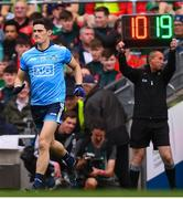 10 August 2019; Diarmuid Connolly of Dublin comes onto the pitch during the second half of the GAA Football All-Ireland Senior Championship Semi-Final match between Dublin and Mayo at Croke Park in Dublin. Photo by Stephen McCarthy/Sportsfile