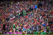 10 August 2019; Mayo supporters leave the ground near the end of the GAA Football All-Ireland Senior Championship Semi-Final match between Dublin and Mayo at Croke Park in Dublin. Photo by Stephen McCarthy/Sportsfile