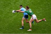 10 August 2019; Niall Scully of Dublin in action against Aidan O'Shea of Mayo during the GAA Football All-Ireland Senior Championship Semi-Final match between Dublin and Mayo at Croke Park in Dublin. Photo by Daire Brennan/Sportsfile