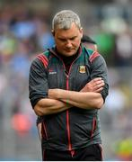 10 August 2019; Mayo manager James Horan during the GAA Football All-Ireland Senior Championship Semi-Final match between Dublin and Mayo at Croke Park in Dublin. Photo by Ramsey Cardy/Sportsfile