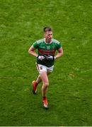 10 August 2019; Cillian O'Connor of Mayo leaves the field after receiving a red card during the GAA Football All-Ireland Senior Championship Semi-Final match between Dublin and Mayo at Croke Park in Dublin. Photo by Daire Brennan/Sportsfile