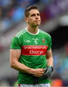 10 August 2019; Lee Keegan of Mayo following the GAA Football All-Ireland Senior Championship Semi-Final match between Dublin and Mayo at Croke Park in Dublin. Photo by Ramsey Cardy/Sportsfile
