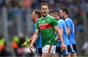 10 August 2019; Andy Moran of Mayo dejected after the GAA Football All-Ireland Senior Championship Semi-Final match between Dublin and Mayo at Croke Park in Dublin. Photo by Piaras Ó Mídheach/Sportsfile