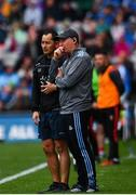 10 August 2019; Dublin manager Jim Gavin, right, and Dublin forwards coach Jason Sherlock during the GAA Football All-Ireland Senior Championship Semi-Final match between Dublin and Mayo at Croke Park in Dublin. Photo by Sam Barnes/Sportsfile