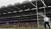 10 August 2019; Brian Fenton of Dublin shoots to score his side's third goal during the GAA Football All-Ireland Senior Championship Semi-Final match between Dublin and Mayo at Croke Park in Dublin. Photo by Ramsey Cardy/Sportsfile
