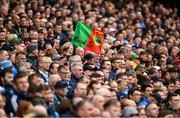 10 August 2019; A Mayo flag flutters in the wind, in the Cusack Stand, during the GAA Football All-Ireland Senior Championship Semi-Final match between Dublin and Mayo at Croke Park in Dublin. Photo by Ray McManus/Sportsfile
