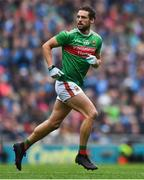 10 August 2019; Tom Parsons of Mayo during the GAA Football All-Ireland Senior Championship Semi-Final match between Dublin and Mayo at Croke Park in Dublin. Photo by Piaras Ó Mídheach/Sportsfile