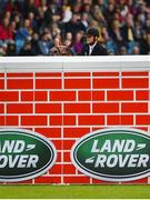 10 August 2019; Louis Deforche of Belgium, competing on Gladstone, pulls up during the Land Rover Puissance at the Stena Line Dublin Horse Show 2019 at the RDS in Dublin. Photo by Harry Murphy/Sportsfile