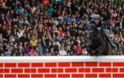 10 August 2019; The crowd watches on during the Land Rover Puissance at the Stena Line Dublin Horse Show 2019 at the RDS in Dublin. Photo by Harry Murphy/Sportsfile
