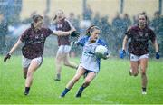 10 August 2019; Katie Murray of Waterford in action against Sarah Conneally of Galway during the TG4 All-Ireland Ladies Football Senior Championship Quarter-Final match between Galway and Waterford at Glennon Brothers Pearse Park in Longford. Photo by Matt Browne/Sportsfile