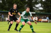 10 August 2019; Joey Mulcahy of St. Michael's in action against Paddy McDermott of Glengad United during the Extra.ie FAI Cup First Round match between St. Michael's and Glengad United at Cooke Park in Tipperary. Photo by Eóin Noonan/Sportsfile