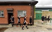 10 August 2019; Glengad United make their way out to the pitch ahead of the Extra.ie FAI Cup First Round match between St. Michael's and Glengad United at Cooke Park in Tipperary. Photo by Eóin Noonan/Sportsfile