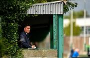 10 August 2019; Journalist Jamie O'Flaherty during the Extra.ie FAI Cup First Round match between St. Michael's and Glengad United at Cooke Park in Tipperary. Photo by Eóin Noonan/Sportsfile