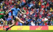 10 August 2019; Brian Fenton of Dublin shoots at goal during the GAA Football All-Ireland Senior Championship Semi-Final match between Dublin and Mayo at Croke Park in Dublin. Photo by Ramsey Cardy/Sportsfile