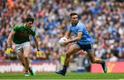 10 August 2019; Niall Scully of Dublin in action against Diarmuid O'Connor of Mayo during the GAA Football All-Ireland Senior Championship Semi-Final match between Dublin and Mayo at Croke Park in Dublin. Photo by Ramsey Cardy/Sportsfile