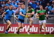 10 August 2019; Donal Vaughan and Colm Boyle, right, of Mayo in action against Con O'Callaghan and Paul Mannion, left, of Dublin during the GAA Football All-Ireland Senior Championship Semi-Final match between Dublin and Mayo at Croke Park in Dublin. Photo by Stephen McCarthy/Sportsfile