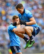 10 August 2019; Dean Rock of Dublin ahead of the GAA Football All-Ireland Senior Championship Semi-Final match between Dublin and Mayo at Croke Park in Dublin. Photo by Ramsey Cardy/Sportsfile
