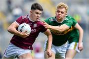 11 August 2019; Tomo Culhane of Galway is tackled by Alan Dineen of Kerry during the Electric Ireland GAA Football All-Ireland Minor Championship Semi-Final match between Kerry and Galway at Croke Park in Dublin. Photo by Brendan Moran/Sportsfile